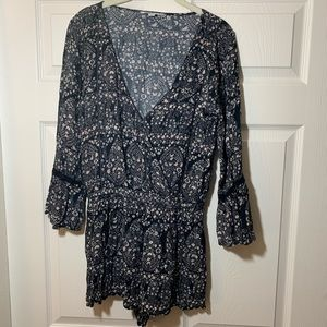 American Eagle Outfitters Long bell sleeve romper